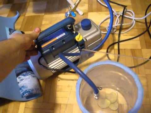 Manuel sur l'utilisation de la pompe à vide