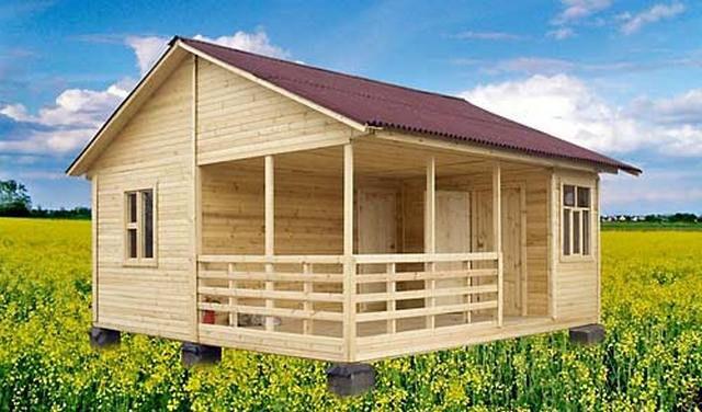 Ejemplo de una casa de campo con una terraza.