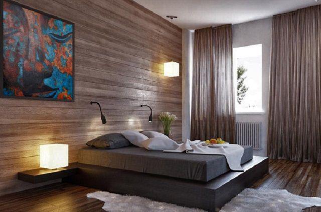 Wallpapers of Natural Fineer of Worldable Wood Wood Creëert een volledig uniek uitzicht op het interieur