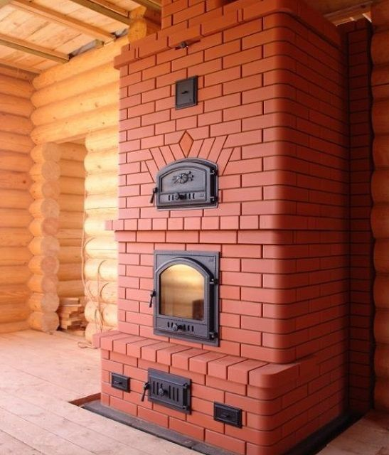 Heating stove.