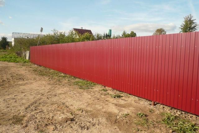 Jak stavět plot od profesionálního listu Udělej to sami