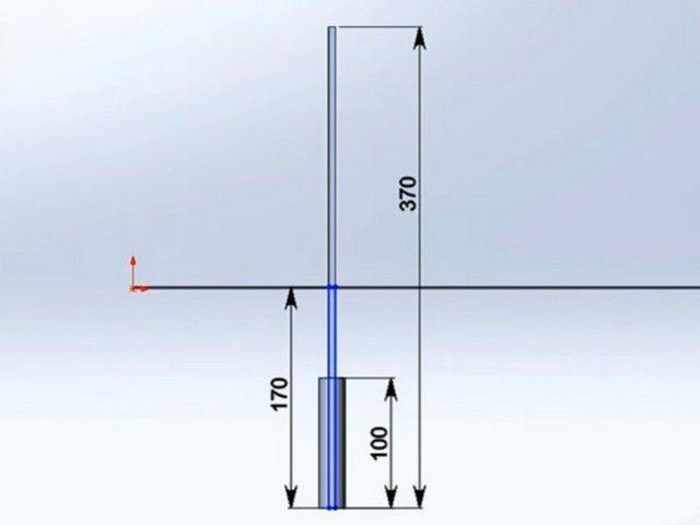 Instalační schéma podpůrných sloupů plotu