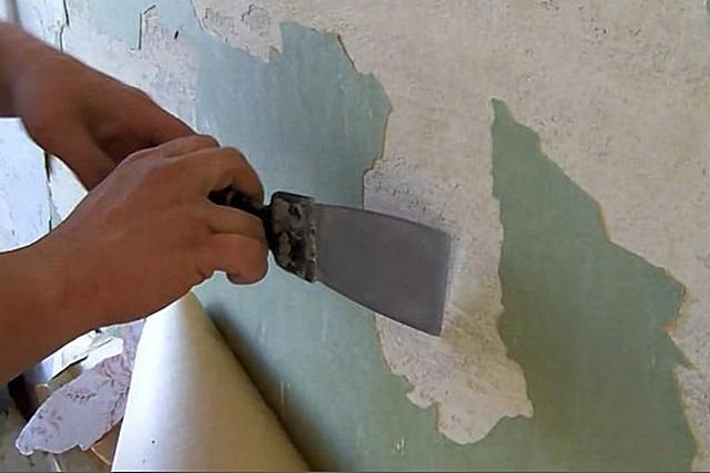 Seinillä ei pitäisi olla vanhaa viimeistelyä