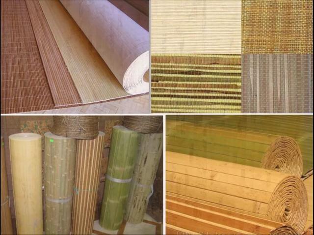 Papel de parede de bambu ou outras matérias-primas vegetais - percebidas como exóticas