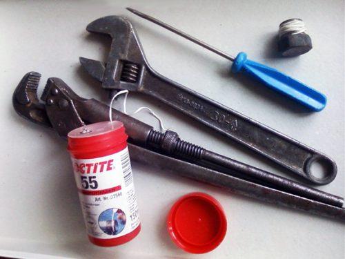 Đặt các công cụ
