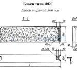 Блоки типа ФБС шириной 300 мм