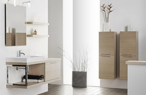 Badausstattung Badmöbel Waschbeckenunterschrank Spiegel