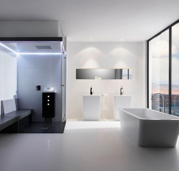 Dusche, Badewanne, Badezimmer, Bad