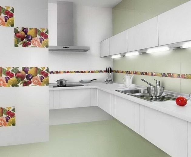 Wandfliesen Fliesen Dekor Grafik Küchenbereich