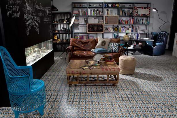 Bodenfliesen Innenbereich Wohnbereich Dekor Muster