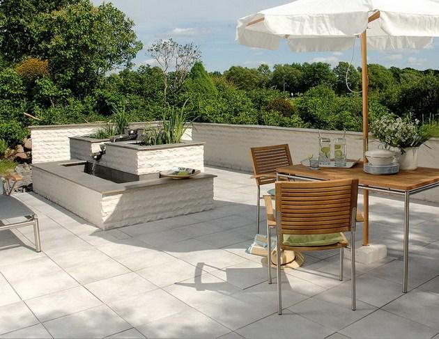 Außenbereich Balkon Fliesen Bodenfliesen Terrasse