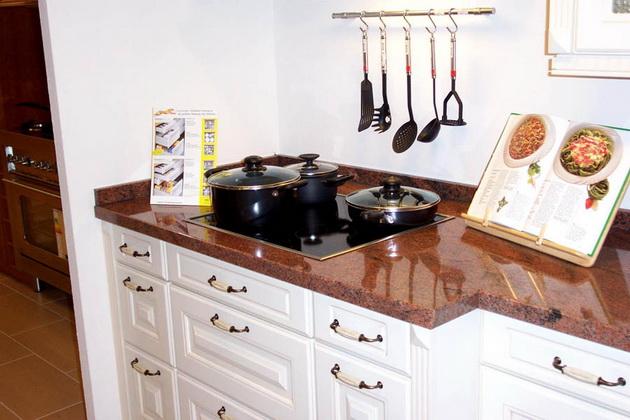 Küchenarbeitsplatte Naturstein Küche braun