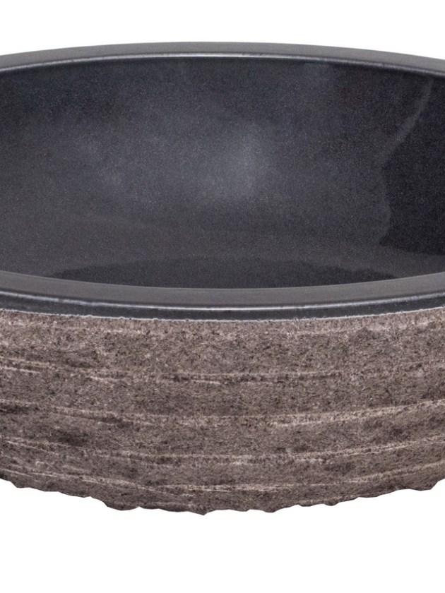 Waschbecken Naturstein rund Emaille