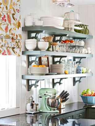 12 rustic kitchen decor with open shelves ideas