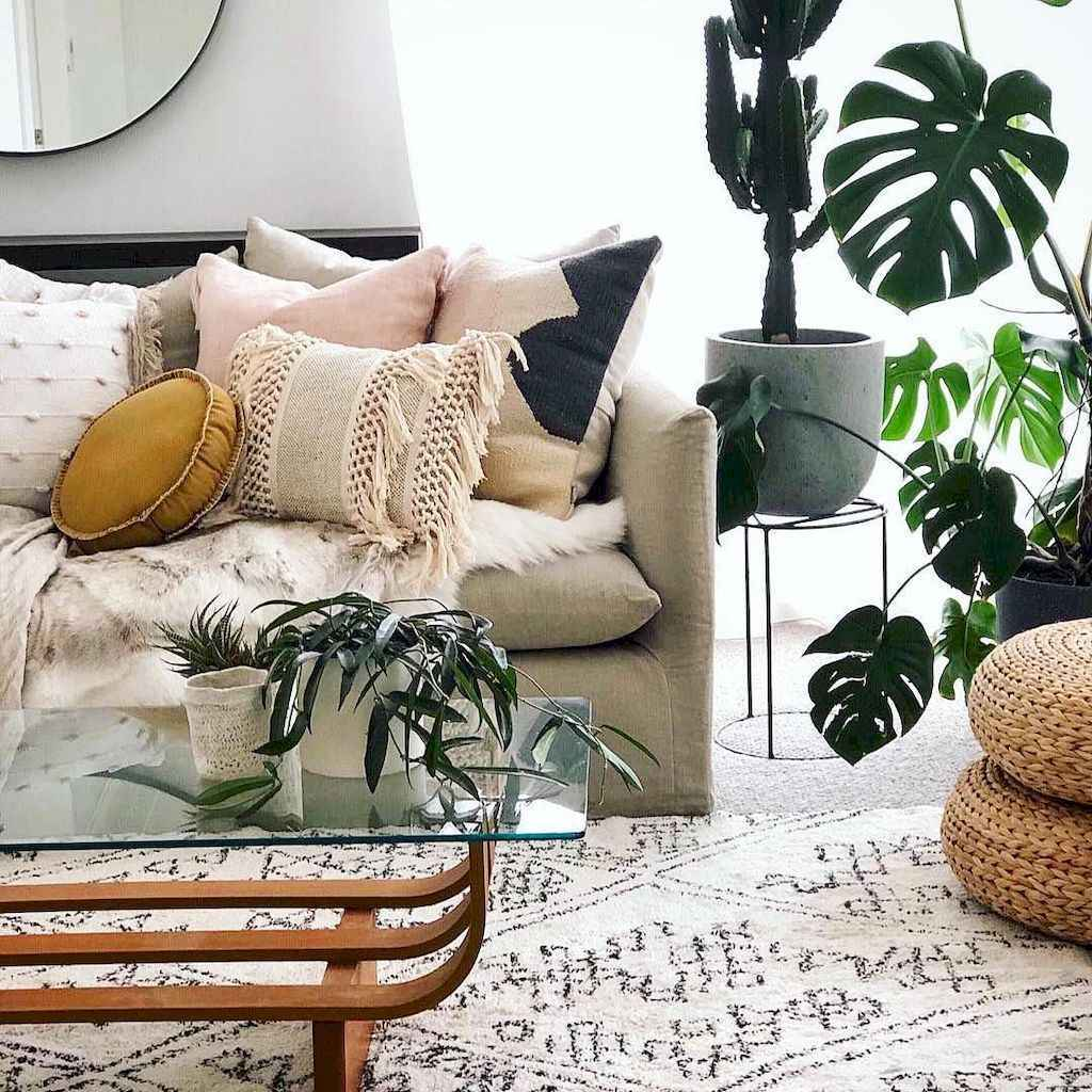 38 cozy bohemian living room decor ideas