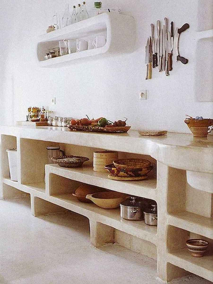 44 rustic kitchen decor with open shelves ideas