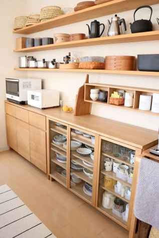 45 rustic kitchen decor with open shelves ideas