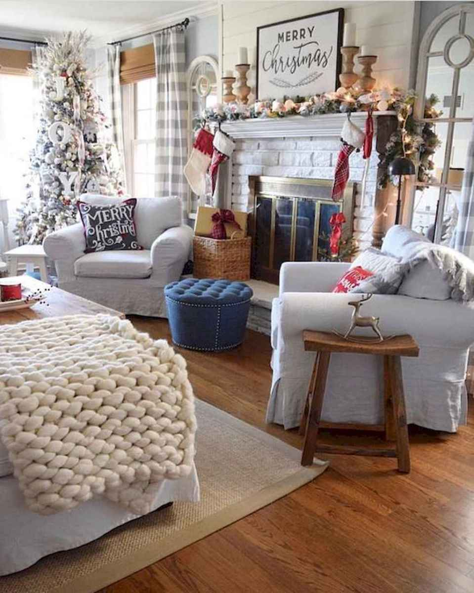 24 cozy christmas living rooms decorating ideas