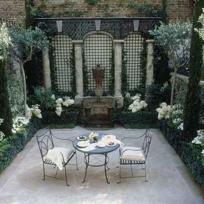 33 small courtyard garden with seating area design ideas