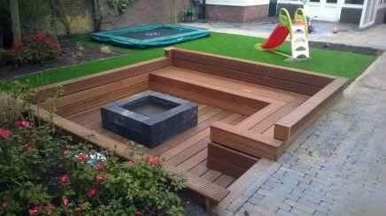 41 cozy outdoor fire pit seating design ideas for backyard
