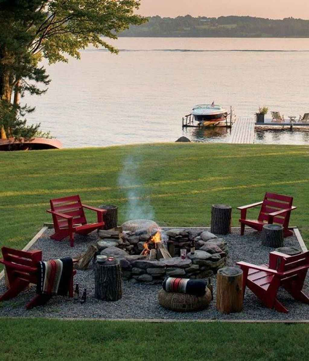 42 cozy outdoor fire pit seating design ideas for backyard