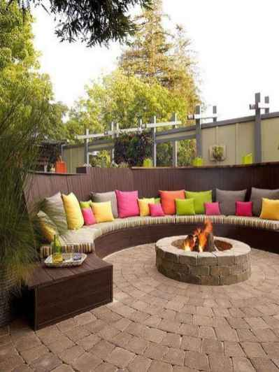 83 cozy outdoor fire pit seating design ideas for backyard