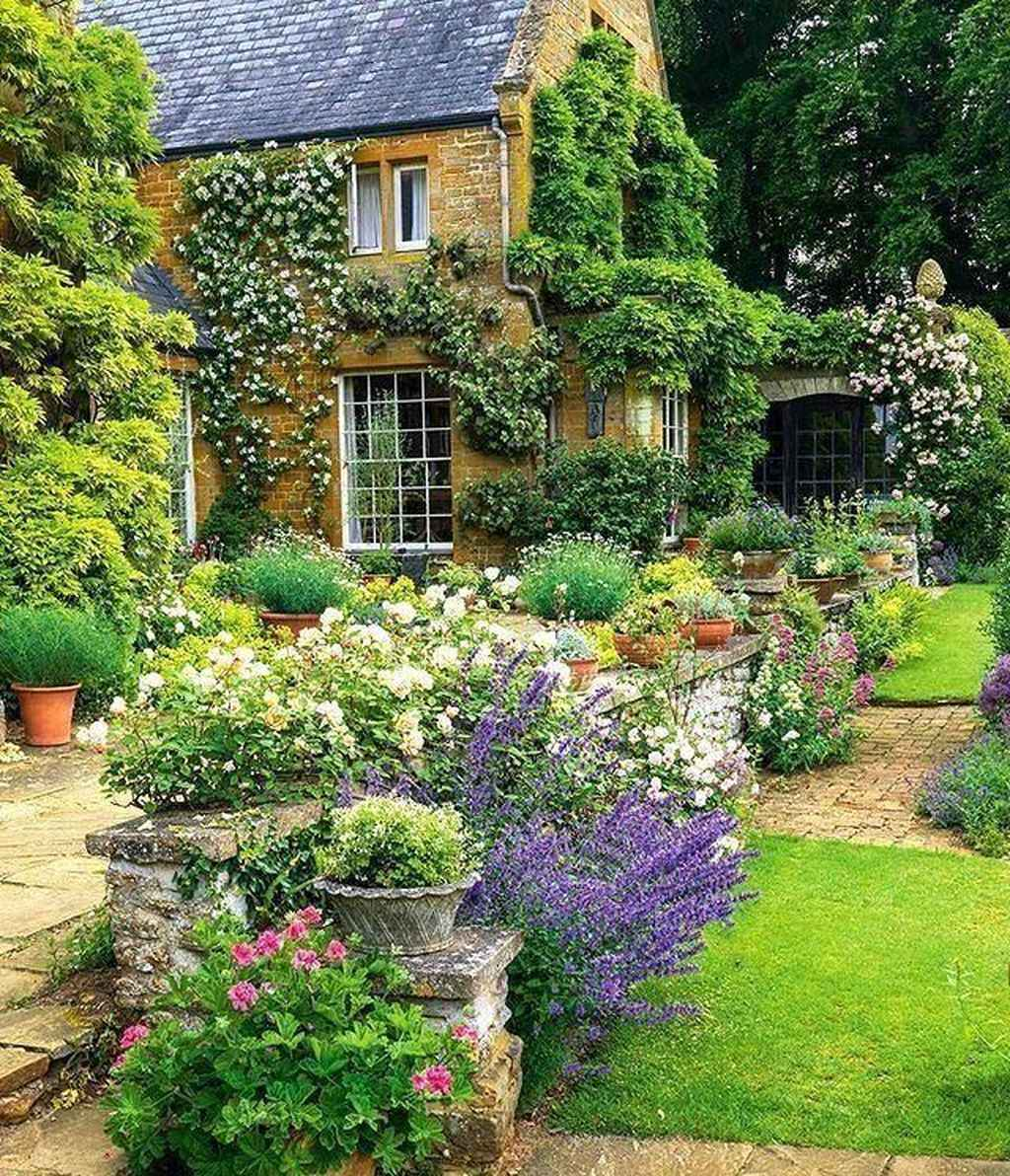89 beautiful front yard cottage garden inspiration ideas