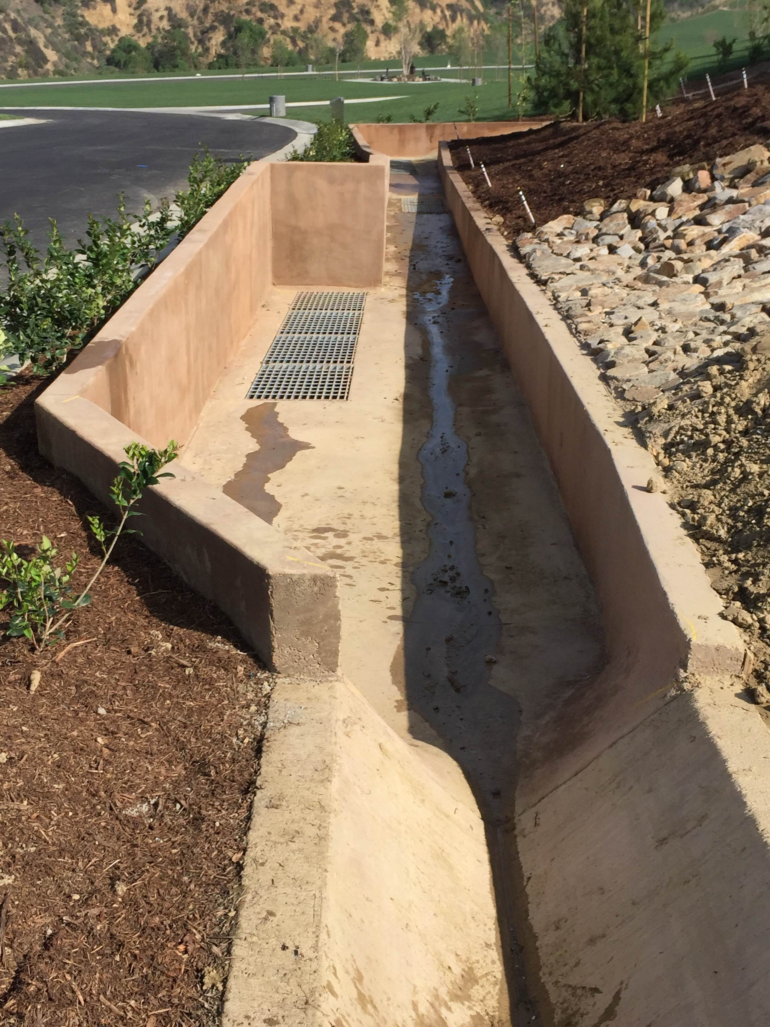 Planter Box Drainage System