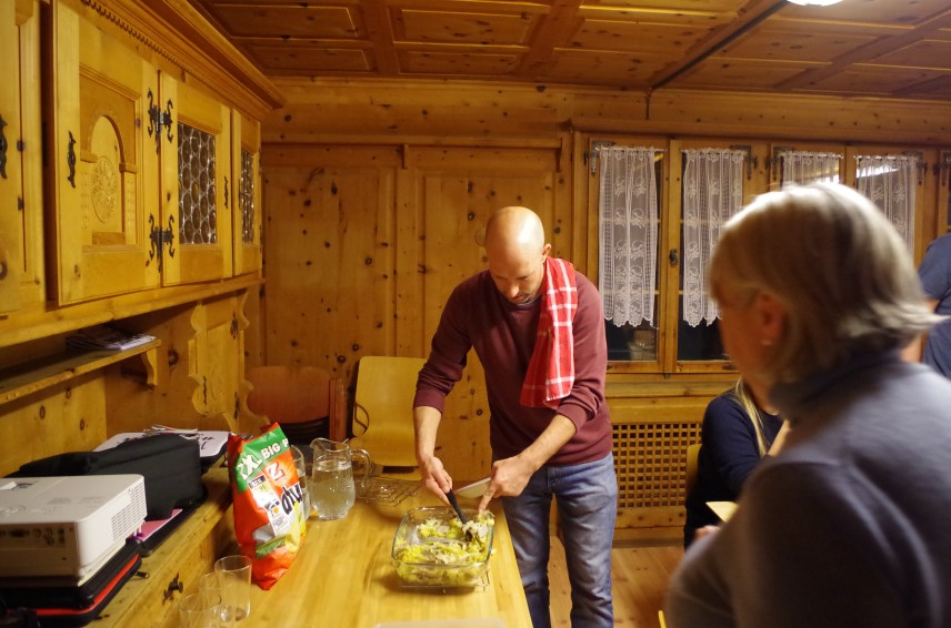 Jonas is whiffing the scents that descendants of Graubünden can only reminisce about.