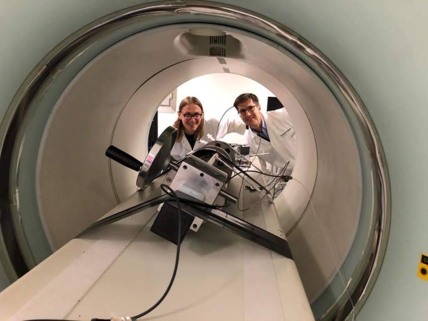 Inside CT-PET machine