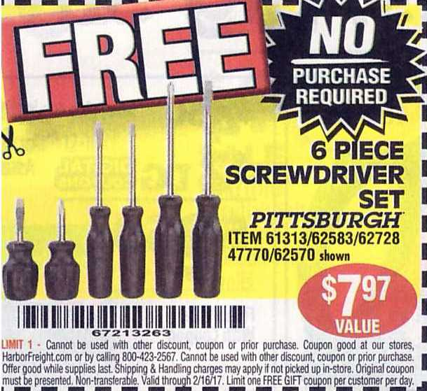 Now through November 23rd, Harbor Freight Tools is offering up several great freebies with the coupons found here – no purchase required! Keep in mind that there is a limit of ONE free gift coupon allowed per customer per day.