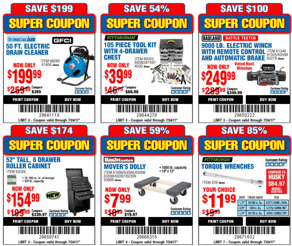 Harbor Freight 25% Off Coupon & 21 Super Coupons (Valid 7