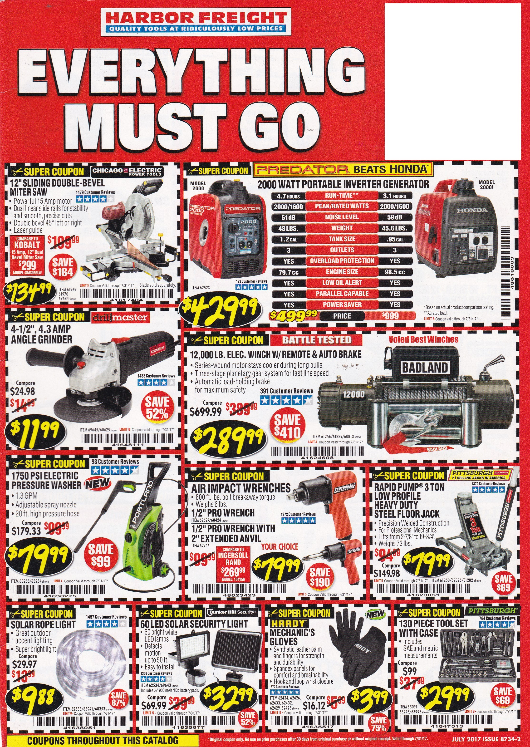 This is an image of Sizzling Harbor Freight Super Coupon Printable