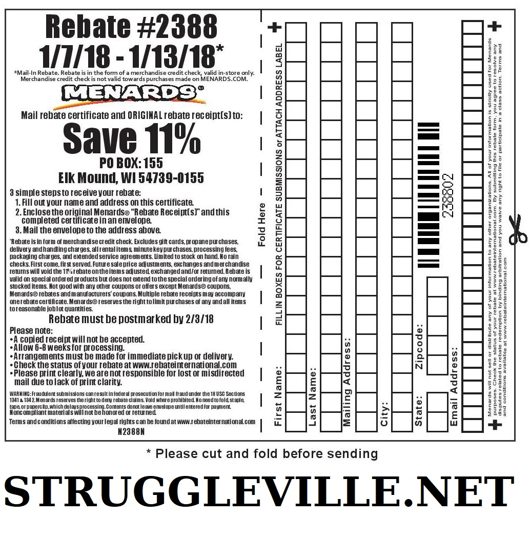 menards 11 rebate form