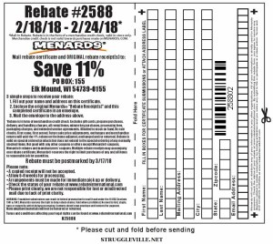 Menards 11% Rebate #2588 – Purchases 2/18/18 – 2/24/18 ...