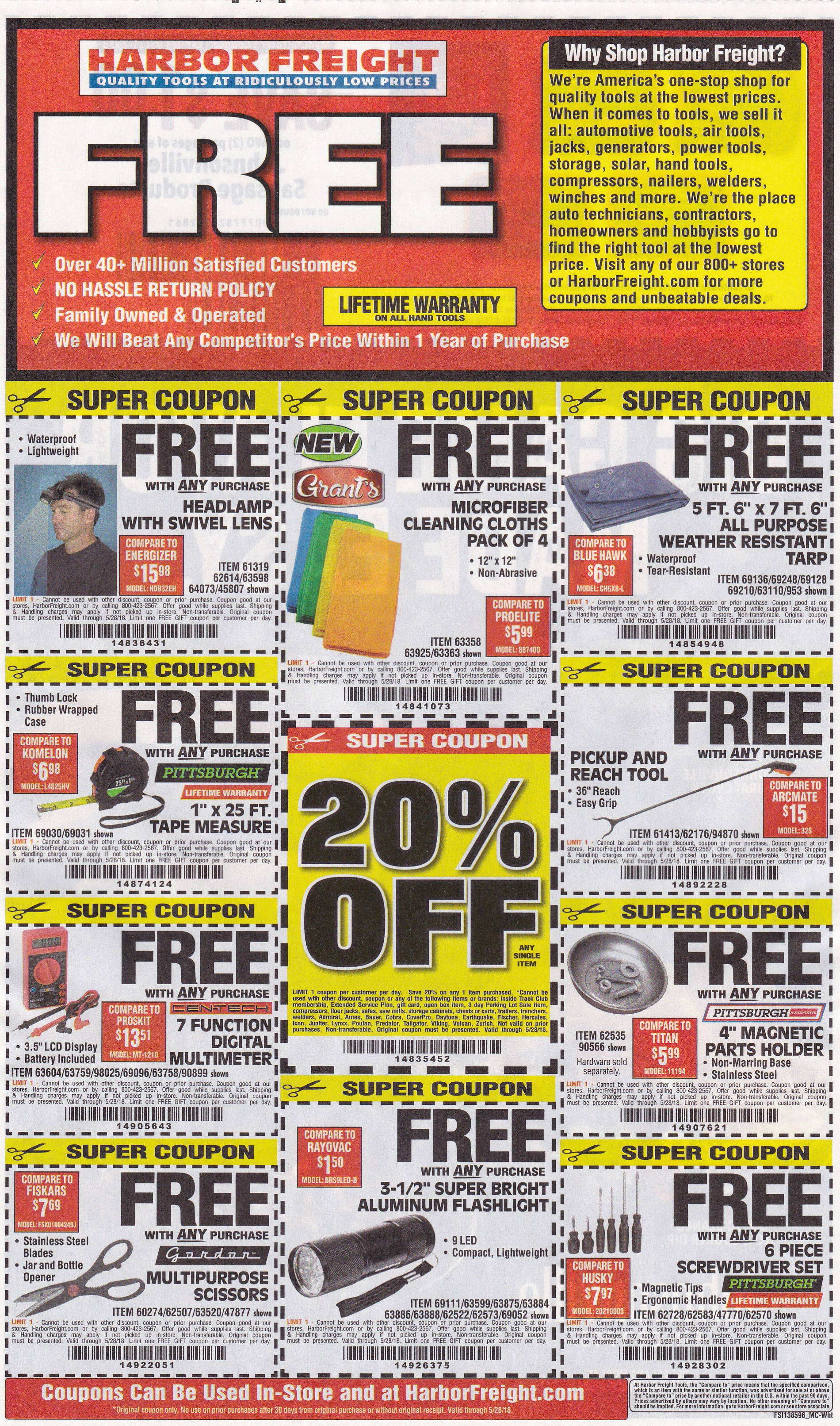 10 Harbor Freight Free Item Coupons Expiring 5 28 18 Struggleville