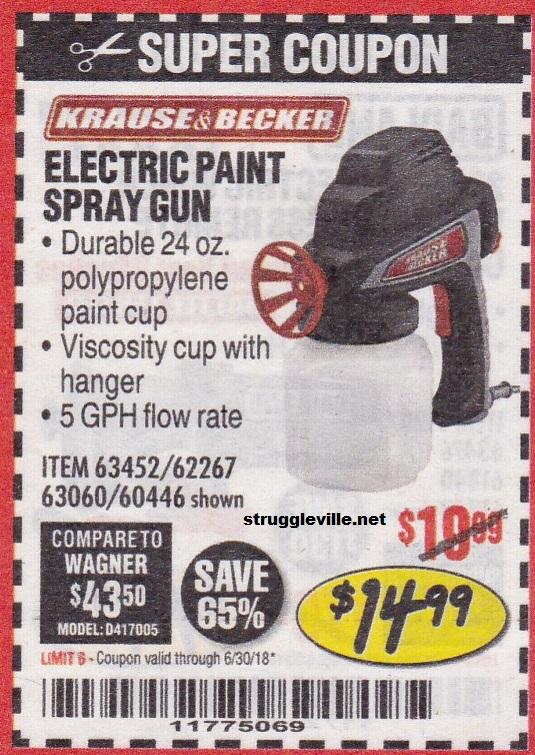 Electric Paint Spray Gun Expires 6 30 18 Struggleville