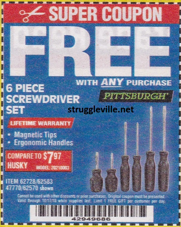 Fleet Farm Coupons >> Harbor Freight Free Item Coupons! - Struggleville