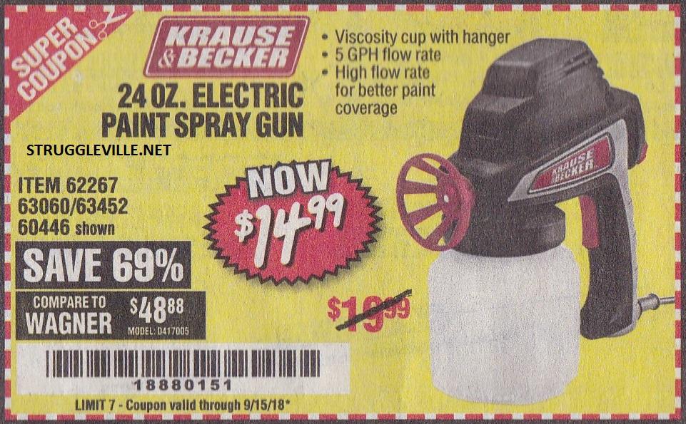 24 Oz Electric Paint Spray Gun Expires 9 15 18 62267