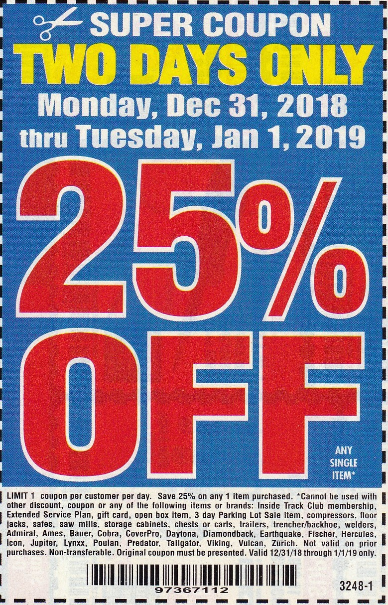 It is a picture of Lucrative Harbor Freight Super Coupon Printable