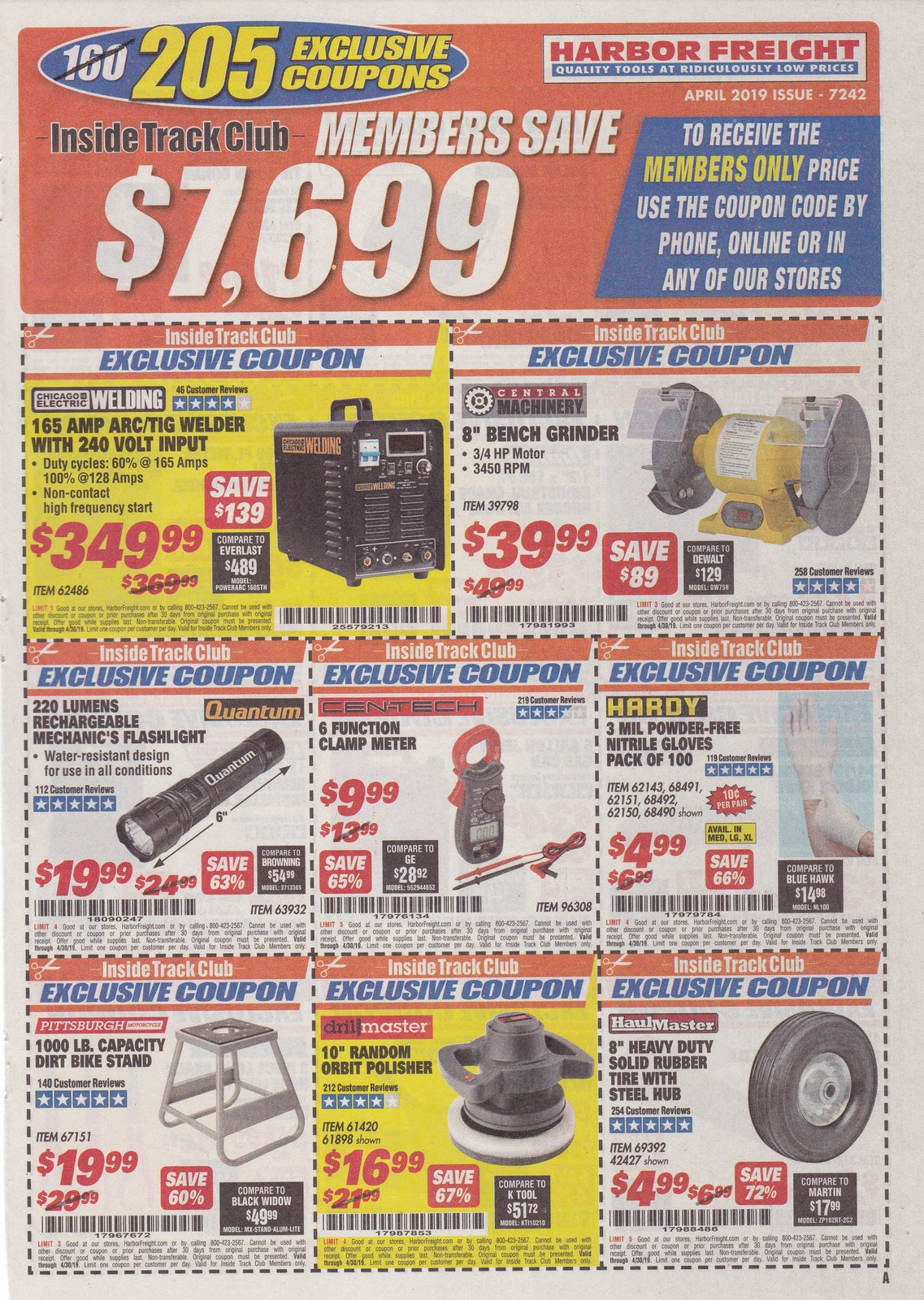 Harbor Freight Inside Track Club Coupons April 2019