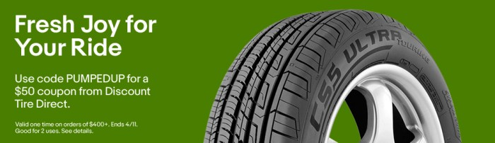 Discount Tire Direct >> Ebay 50 Off A Purchase Of 400 From Discount Tire Direct Expires