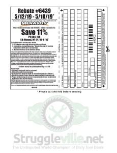Menards 11% Rebate #6439