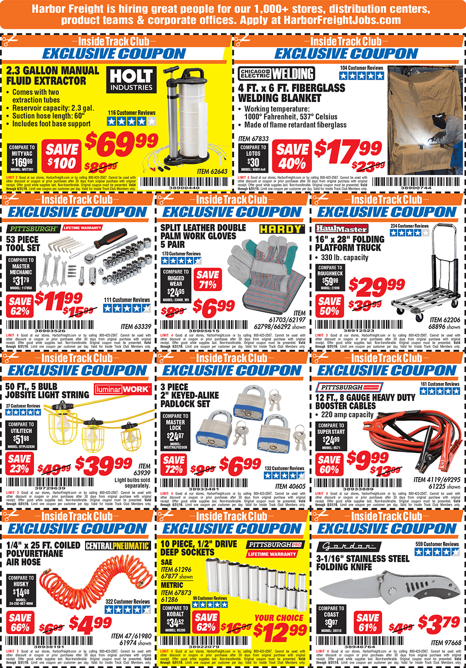 Harbor Freight Inside Track Club Coupons – May 12222