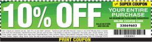 10 percent off entire purchase at Harbor Freight coupon.
