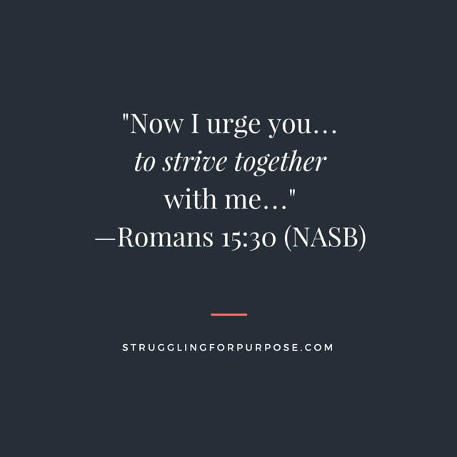 Struggling for Purpose Bible Verse