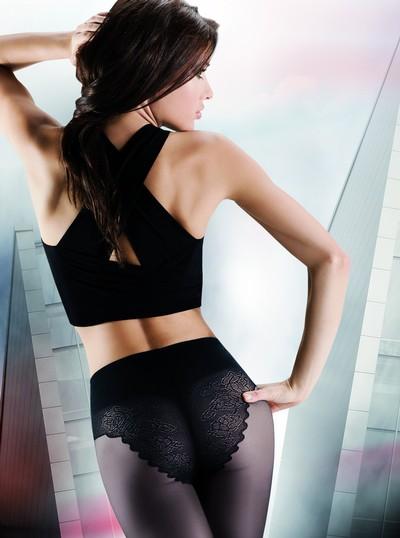 Glatte Feinstrumpfhose mit Höschenteil in Bikiniform Bikini 20