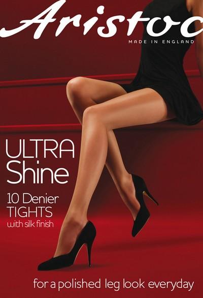 Glatte glänzende Feinstrumpfhose Ultra Shine von Aristoc, vaguely black, Gr. M