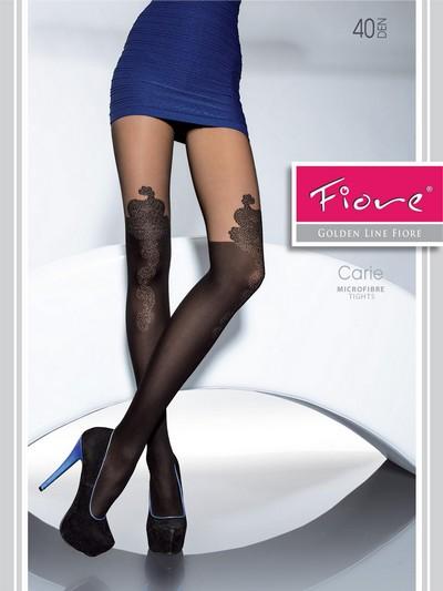 Strumpfhose in raffiniertem Overknee-Look Carie von Fiore, schwarz, Gr. M