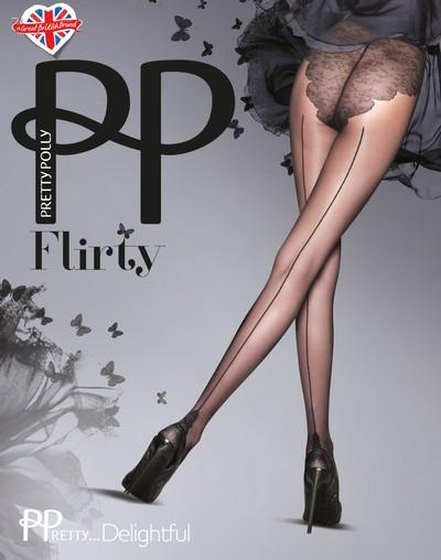 Feinstrumpfhose mit Rücknaht und Bikini-Höschenteil PPretty...Delightful von Pretty Polly